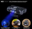 UL10UV - LED- Cliplampe Weißlicht + UV Licht 365nm zur Dokumentenkontrolle für Kappen, Molle, Rucksäcke, Koppel, Gürtel, 48 Lumen weißlicht