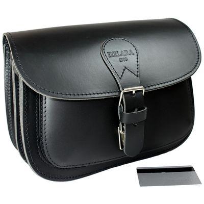 DELARA Jagdtasche aus schwarzem Leder – Bild 1