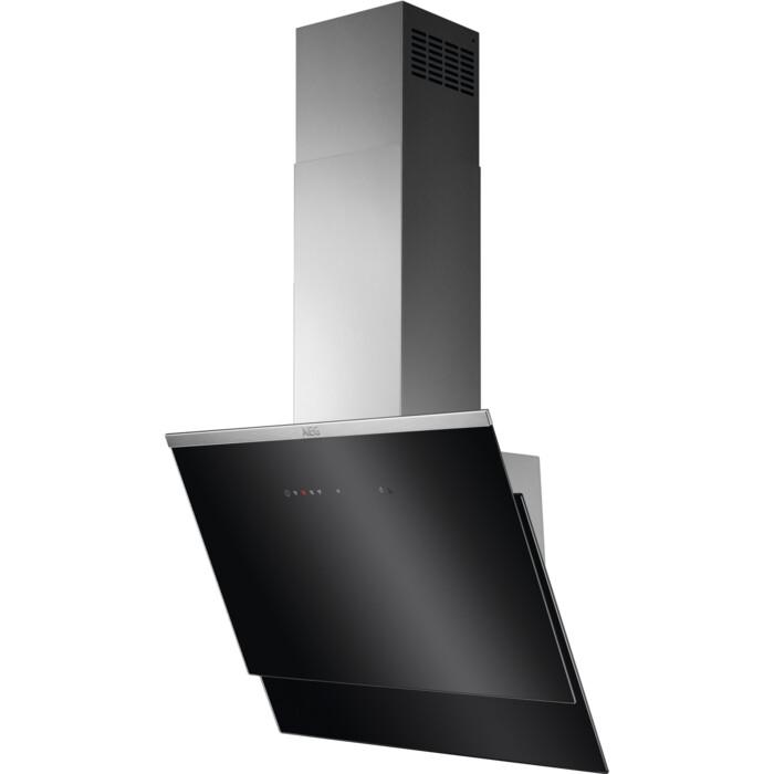 AEG Dunstabzugshaube DVE5671HG (60 cm, Kopffrei, Abluft, Umluft, Hob²Hood-Funktion, schwarz, Edelstahl, Glas, LED-Beleuchtung)