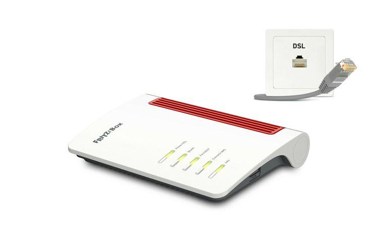 AVM FRITZ!Box 7530 AX (DSL, WLAN AX, Wi-Fi 6, Mesh, DECT-Basis, Telefonie, 4x Gigabit LAN, Mediaserver, NAS, Smart Home, 20002930)