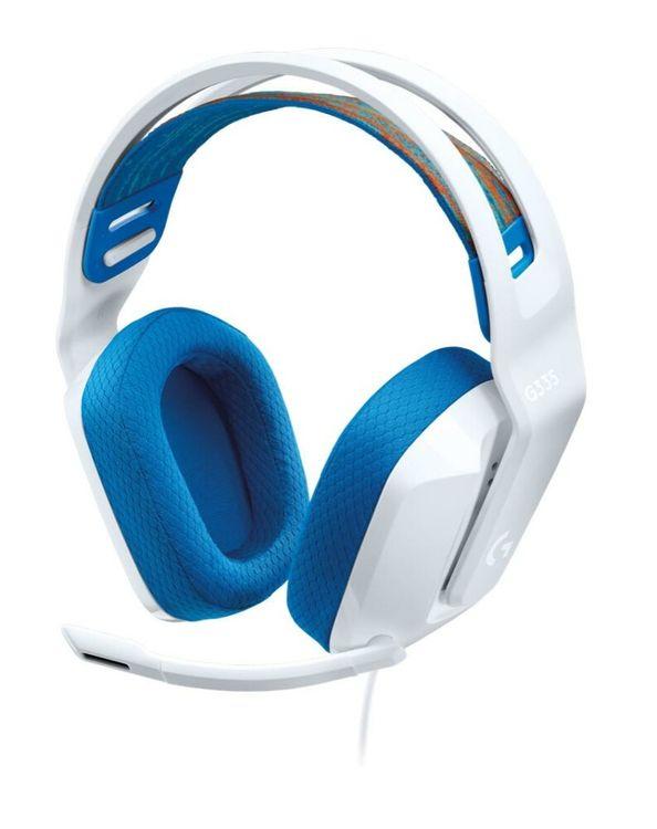 Logitech G335 weiß Gaming-Headset (Klinke, kabelgebunden, PC, Mobiltelefone, Xbox Series X S, PlayStation 5, Nintendo Switch)