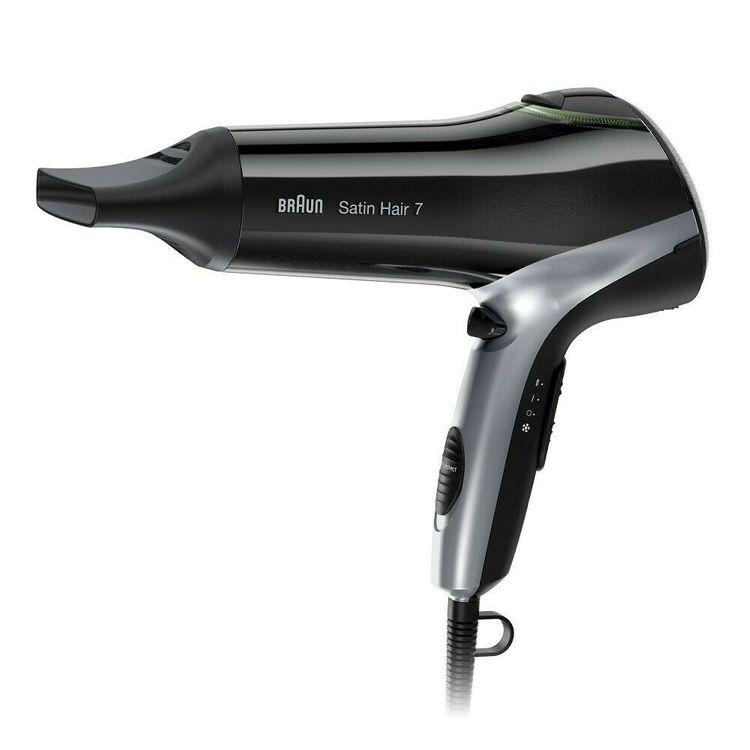 BRAUN Satin Hair 7 HD 710 Haartrockner (2200 Watt, Ionen, IONTEC, Glanz, gesundes-trocknen, professionell, Styling-Düse, Kaltstufe, 3 Temperatur-Stufen, 2 Gebläse-Stufen)