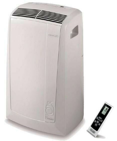 DELONGHI PAC N82 ECO Mobiles Klimagerät (Energieeffizienzklasse A, 2,4 kW, Kühlleistung, Fernbedienung, R290, Display, Timer)