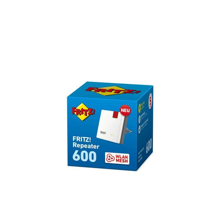AVM FRITZ!Repeater 600 (Mesh, WLAN N, 600 MBit, 2,4 GHz)