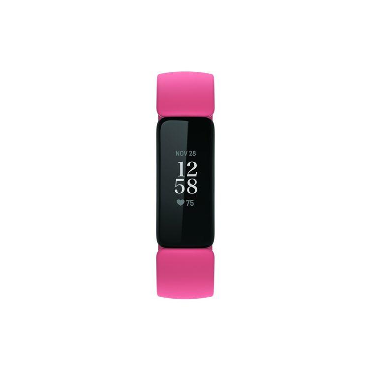 Fitbit Inspire 2 Desert Rose Black Fitness Tracker (Herzfrequenzmessung, Schlafanalayse, bis zu 10 Tage Akkulaufzeit, schwarz/rot)