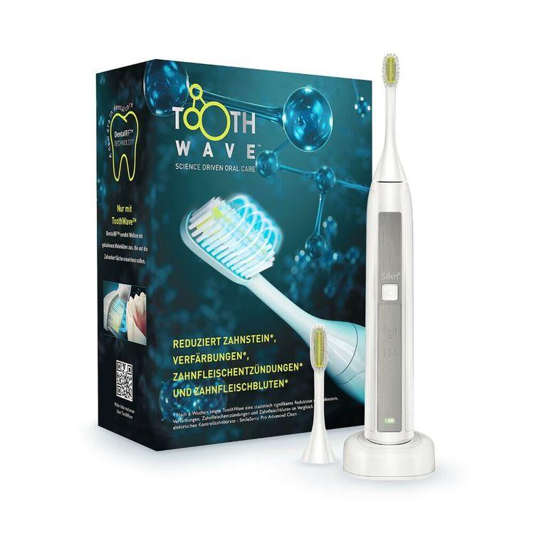 Silk'n Zahnbürste ToothWave (entfernt Zahnstein, 30-Sekunden-Intervall-Timer, Wasserdicht)