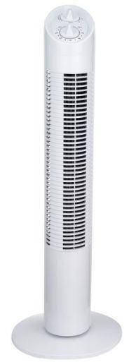 SALCO Turmventilator KLT-1082 weiß (75 cm hoch, 30 Watt, 3 Geschwindigkeitsstufen)
