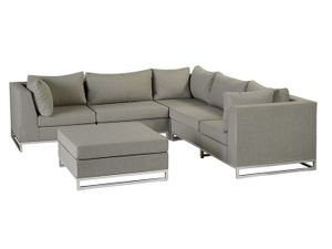 Gartenmöbel - Chill-Lounge Living Rhodos Outdoor Lounge Set - taupe