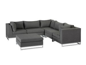 Gartenmöbel - Chill-Lounge Living Rhodos Outdoor Lounge Set - grau
