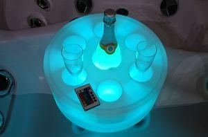 LED Leuchtbar (Weiss) - Schwimmende Bar