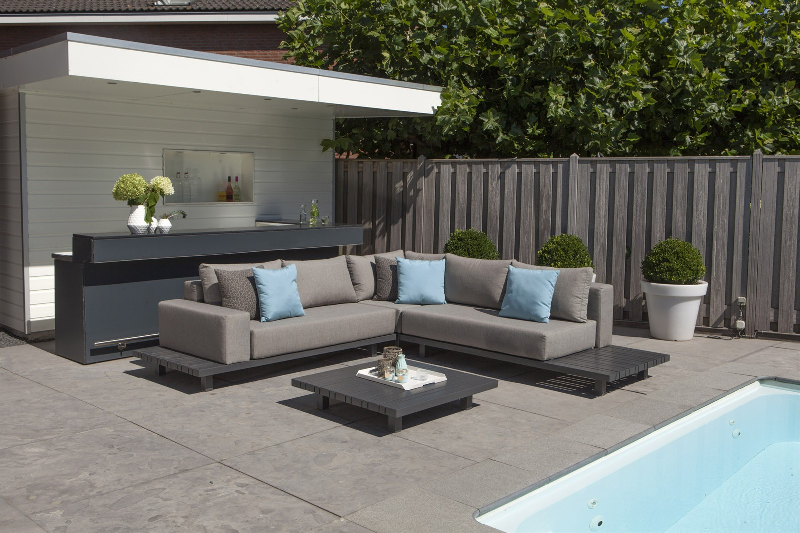 Gartenlounge  Chill Lounge Paradiso Lounge - Outdoor Gartenlounge - Aluminium ...