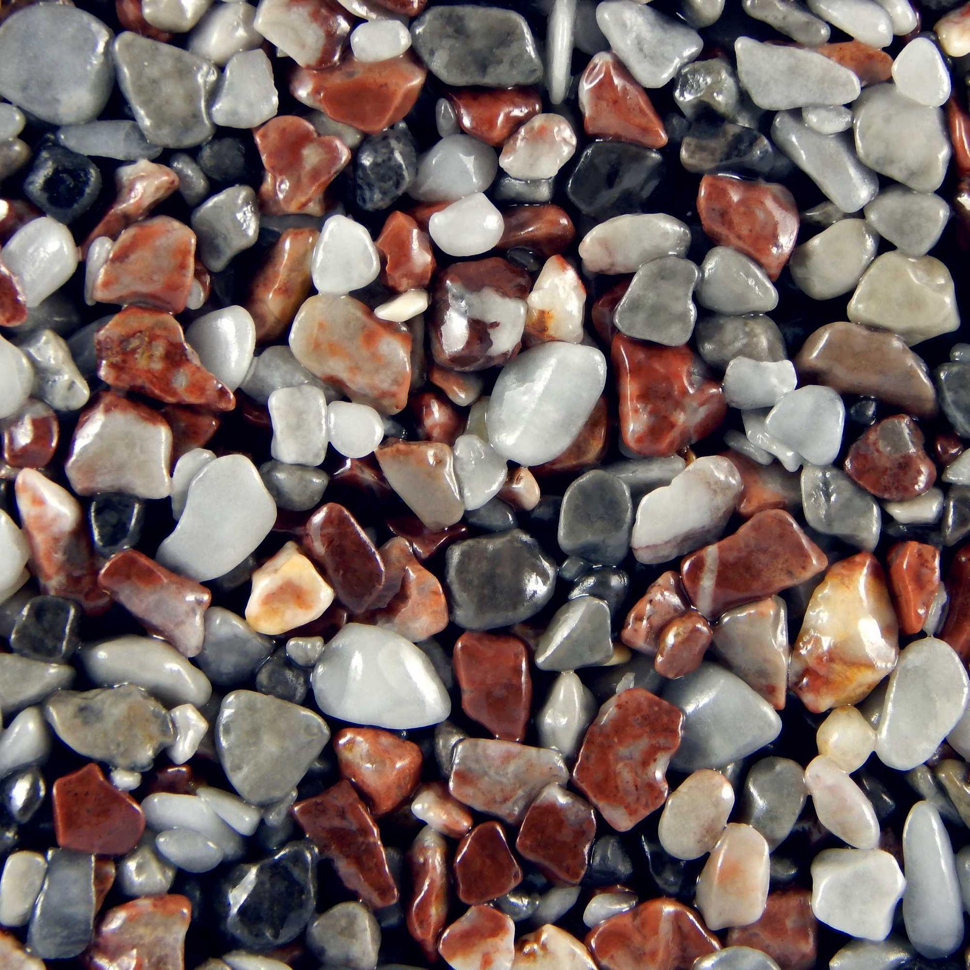Terralith Marmor - Steinteppich rosso autunno für 1 qm - außen -