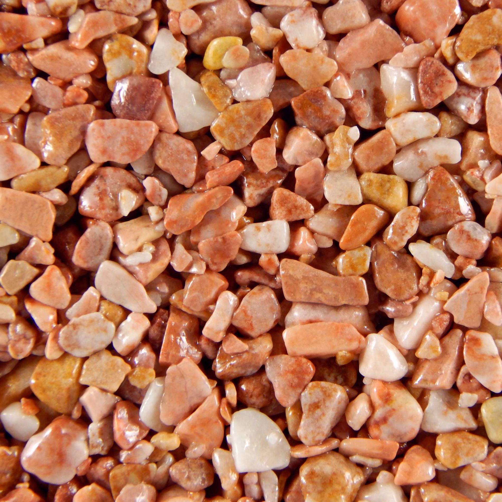 Terralith Marmor - Steinteppich WAND terracotta (fein) für 1 qm