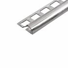 Abschlussprofil (Viertelkreis) -Edelstahl- 8 mm (Länge 2,5 m) 001
