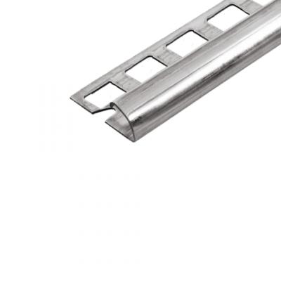 Abschlussprofil (Viertelkreis) -Edelstahl- 10 mm  (Länge 2,5 m)