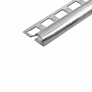 Abschlussprofil (Viertelkreis) -Edelstahl- 12,5 mm (Länge 2,5 m)