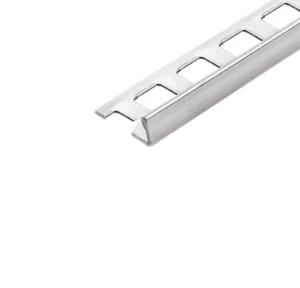 Abschlussprofil (Winkelabschlussprofil) -Edelstahl- 8 mm (Länge 2,5 m)