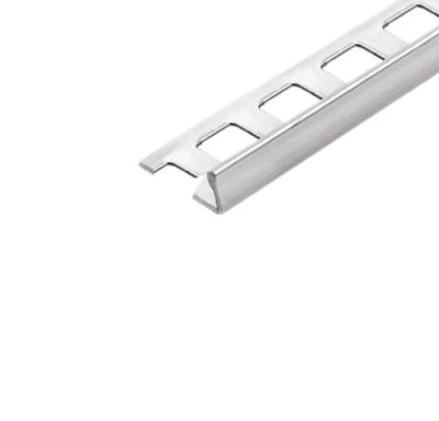 Abschlussprofil (Winkelabschlussprofil) -Edelstahl- 12,5 mm (Länge 2,5 m)
