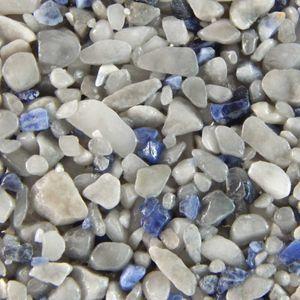 Terralith Edelsteinteppich Mix Sodalith / grau 1 qm -außen-