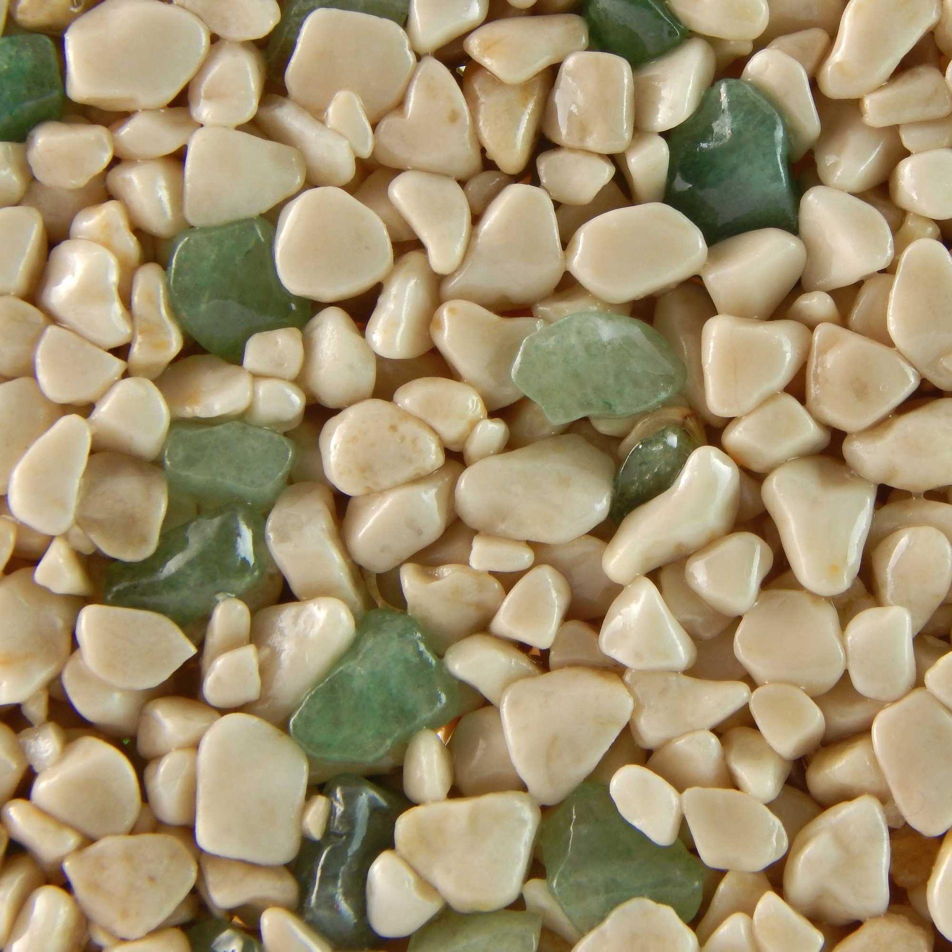 Terralith Edelsteinteppich Mix Aventurin / beige 1 qm -außen-