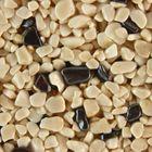 Terralith Edelsteinteppich WAND Mix Hämatit / beige für 1 qm 001