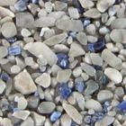 Terralith Edelsteinteppich WAND Mix Sodalith / grau für 1 qm 001