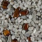 Terralith Edelsteinteppich Farbmuster - Tigerauge / grau- 001