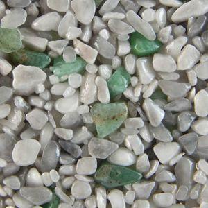 Terralith Edelsteinteppich Mix Aventurin / grau  1 qm -außen- – Bild 1