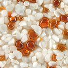 Terralith Glasteppich Farbmuster -Bianco / Ambre- 001