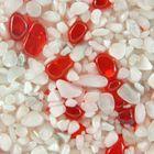 Terralith Glasteppich Bianco/Red für 1 qm -innen- 001