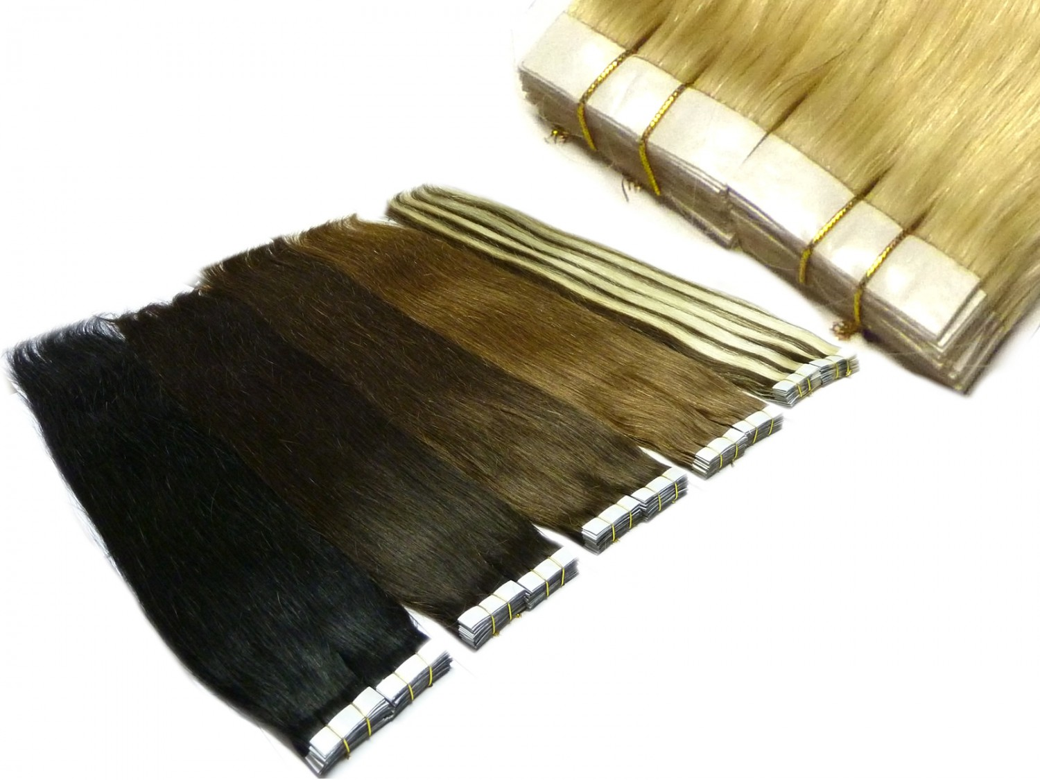 40 Human Hair 20 inch Tape In Extensions 100g