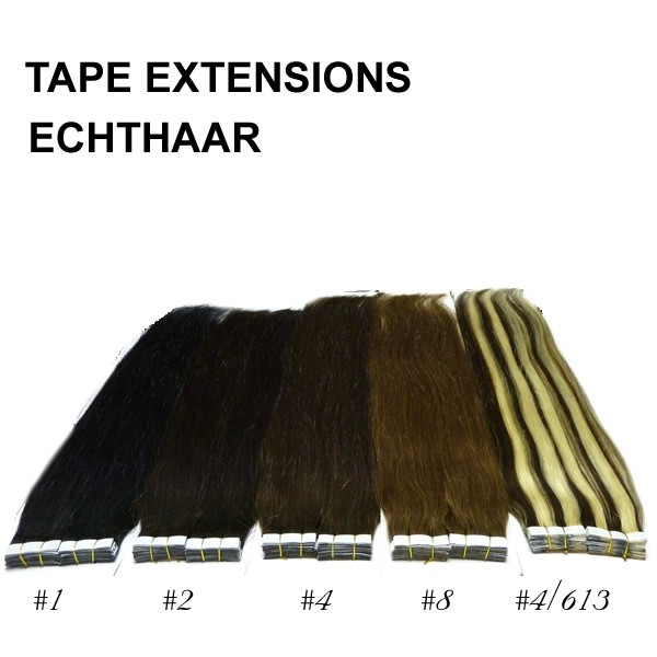 Tape in extensions echthaar 70 cm