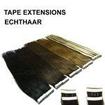 10 Echthaar 40cm Tape In Extensions 20g zum Kleben