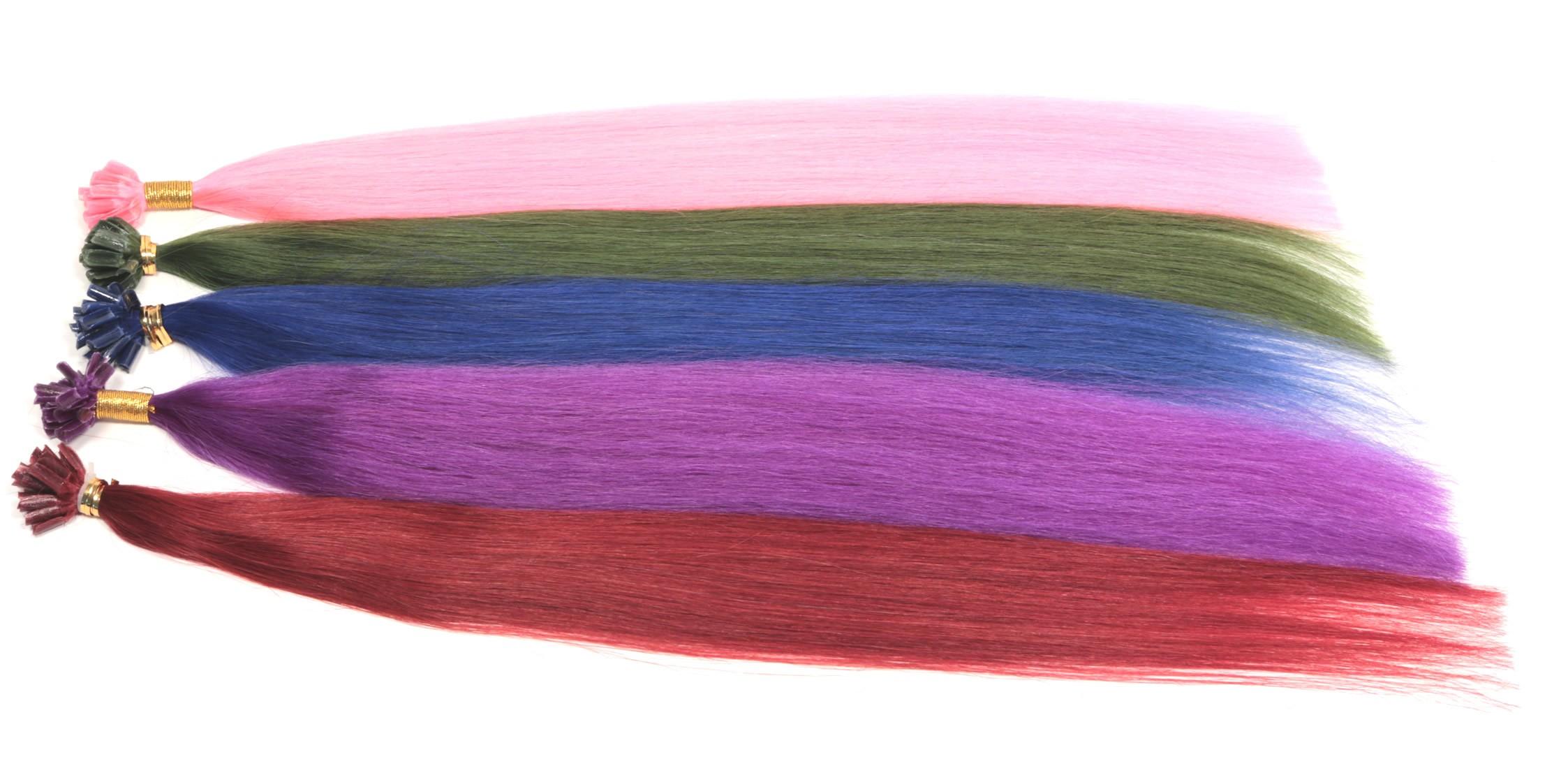 (100 Stück) MAGIC-Color 1 Gramm Remy Echthaar 50cm Rund-Bondings