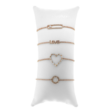 Armbandkissen 4er Set rose gold