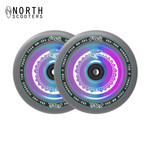 North Vacant 110mm 24mm Stunt Scooter Wheels oilslick