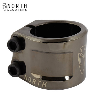 North Axe Double Clamp black chrome