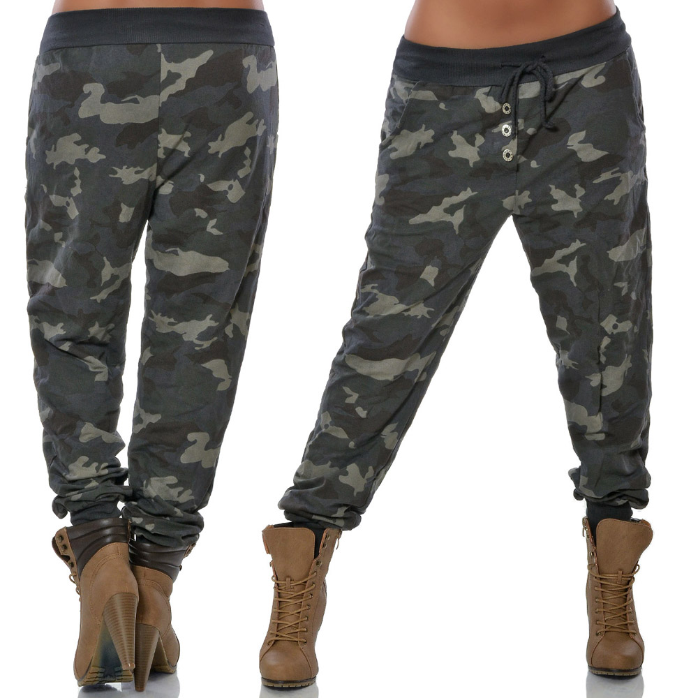 damen chino boyfriend hose camouflage stoffhose h fthose army pumphose baggy n48 ebay. Black Bedroom Furniture Sets. Home Design Ideas
