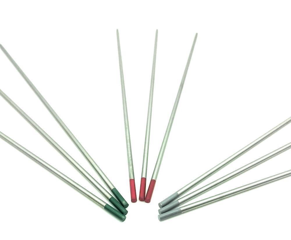 Wolfram Elektroden 10 Stück verschiedene Farben und Durchmesser