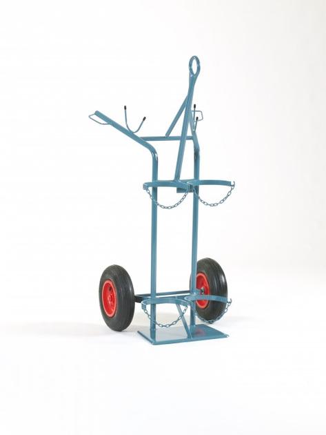NIES Modellserie F5 Flaschenwagen mit Kranaufhängung für 1 x 50 l und 1 x 33 kg