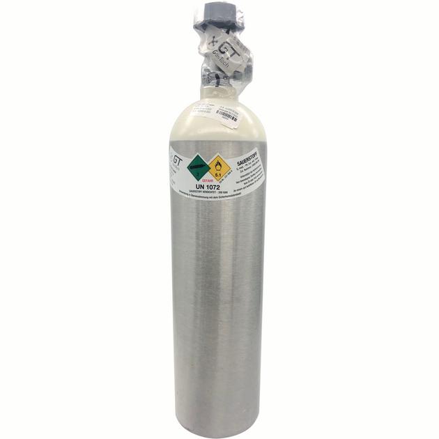 2L Med. Sauerstoff Alu-Gasflasche gefüllt