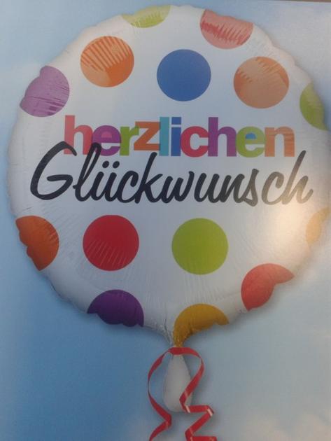 ANAGRAM Folienballon 'Herzlichen Glückwunsch' Bunt 18 Zoll