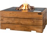 HAPPY COCOONING Feuertisch Angolo Teak Gartenfeuer mit Gas 001