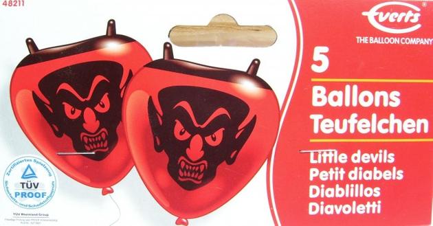 RIETHMÜLLER Ballons 5 Stück Teufelchen
