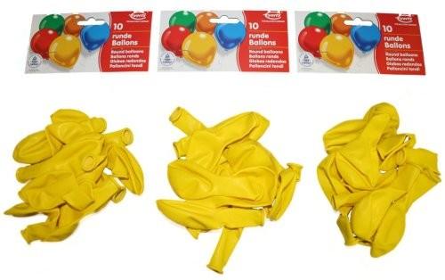 RIETHMÜLLER Runde Luftballon 10er-Pack, Umfang 75-85cm, Gelb