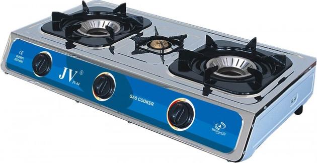 CAGO JV 04 Gaskocher 3-flammig aus Edelstahl 10,0 kW