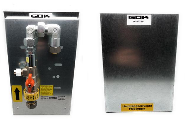 GOK Hauptabsperreinrichtung mit Gasströmungswächter | Absicherung von  Flüssiggasanlagen | PS 5 bar