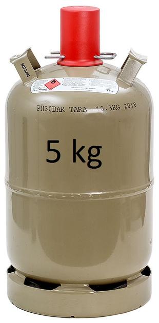 Propangas in 5-kg-Eigenflasche