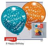 RIETHMÜLLER Ballons Herzlichen Glückwunsch 8 Stück 001