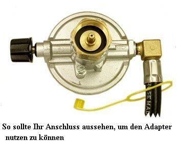 adapter f r usa grill von us kartusche auf deutsche gasflasche. Black Bedroom Furniture Sets. Home Design Ideas